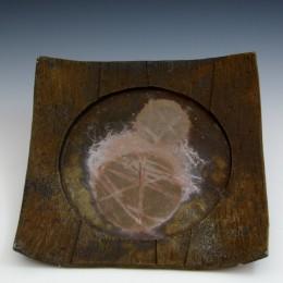 スカルプチャー角皿