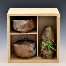 煎茶器セット(ろくろ)